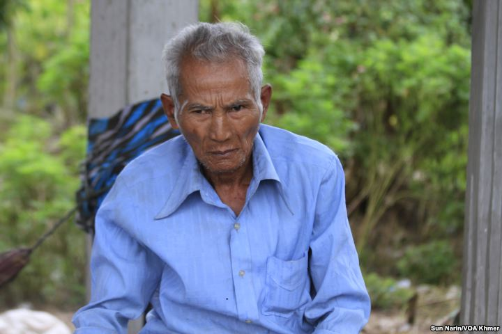 Duch Thuon, 66, a villager in Taches commune, said he registered as a CPP member after being approached by local officials and feeling he had no choice, Wednesday, November 8, 2017.