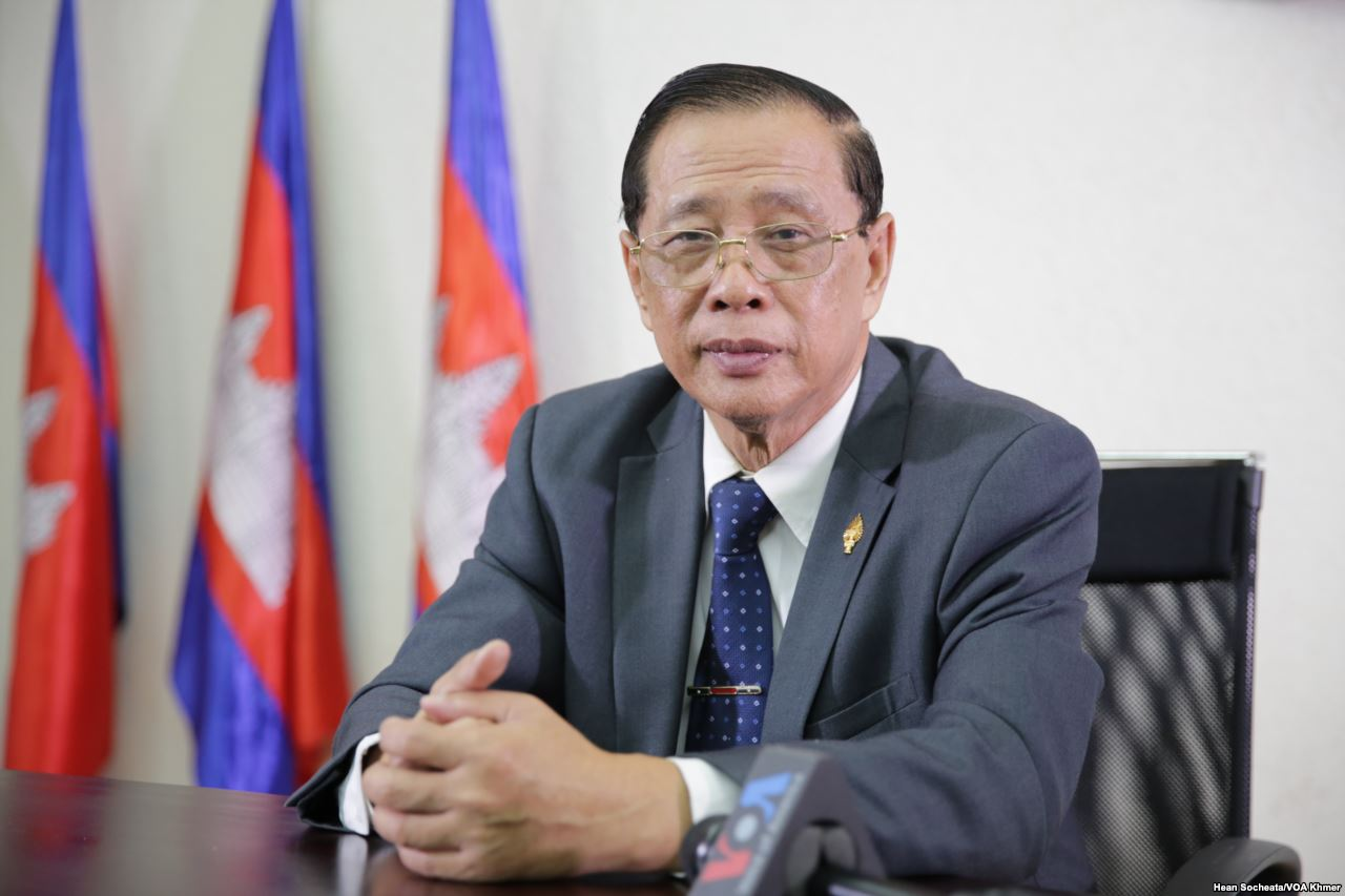 Portrait of Sok Eysan, a spokesman and lawmaker of the Cambodian People's Party.