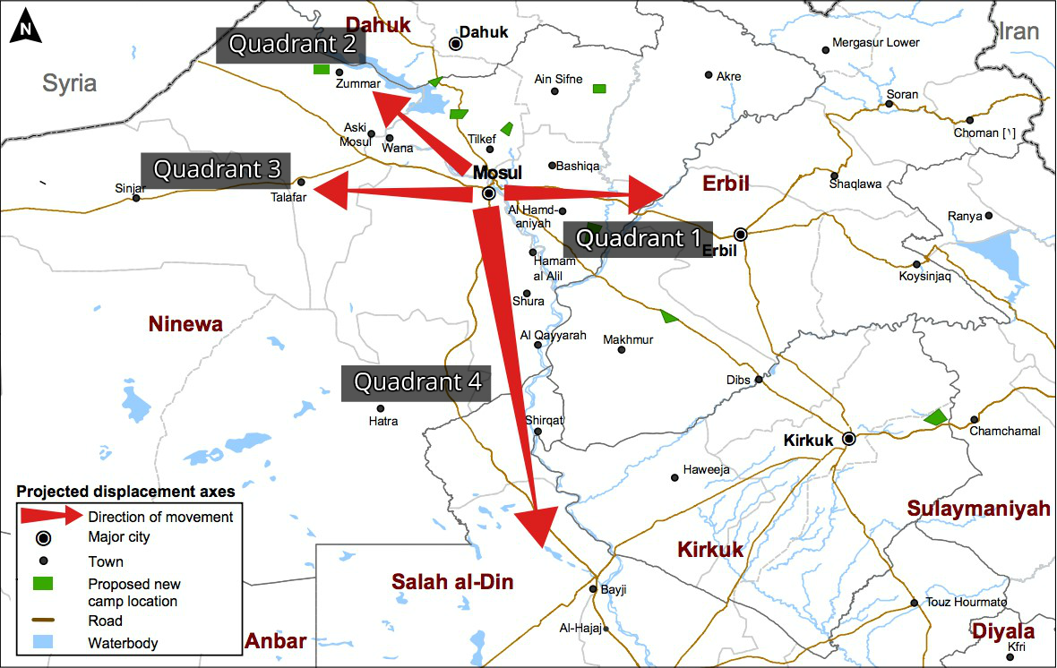 Fleeing mosul each quadrant depending on who is in control and what the circumstances are gumiabroncs Choice Image