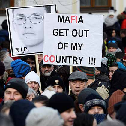 Protesters took to the streets in Bratislava and other Slovakian cities in the weeks after the murder, demanding justice for Kuciak and an end to corruption.