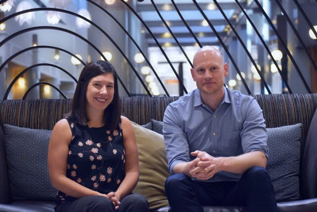 A photograph of researchers Jillian Peterson and James Densley